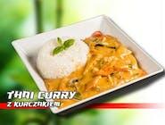 Thai curry z ryżem i kurczakiem