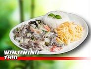 Wołowina thai z mlekiem kokosowym