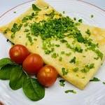 5. Naleśnik Tygodnia: Naleśnik z szpinakiem oraz serem feta. Podawany z rukola i prżonymi nasionami