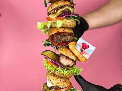 Box - 12 mini burgerów + dodatki