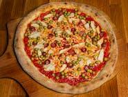 Pizza Pollo e piselli