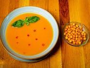 Supă cremă de legume și crutoane