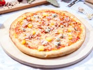 Pizza Quattro Formaggi e bacon