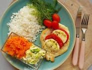 Filet z kurczaka zapiekany z pomidorem i serem mozzarella