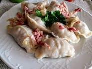 P1 Pierogi z mięsem z okrasą