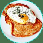 Placki z jajkiem sadzonym