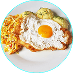 Sznycel wieprzowy z jajkiem sadzonym