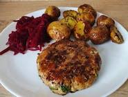Lunch dnia : grillowany  kotlet mielony , zupa szczawiowa