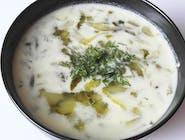 Zupa ogórkowa (wege) z ziemniakami