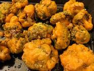 Brokuły smażone w cieście z ciecierzycy 250g, 2 sosy