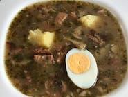 Żur na wędzonych żeberkach z jajkiem 350 ml