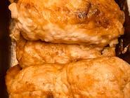 Rolada duszona z piersi indyka faszerowana pieczarkami