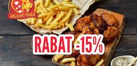 Tylko w środę Rabat 15% na nuggetsy, skrzydełka...