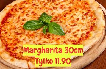 Margherita 30cm za 11.90 przy zakupie dowolnej rodzinnej pizzy.