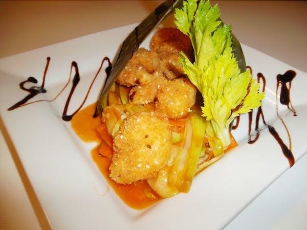 Creveți Gong Bao cu legume thai