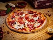 Pizza Prosciutto funghi e salamino