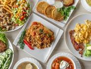 Zestaw dnia I: Filet z ryby w sosie koperkowym