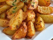 Ziemniaki opiekane z sosem czosnkowym