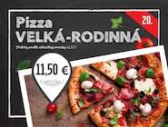 20. Pizza EXTRA VEĽKA RODINNA