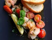 Gamberetti aglio oilo e peperoncino