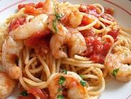 Spaghetti con Gamberi e peperoncino