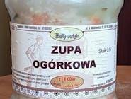 Zupa ogórkowa na wieprzowinie i indyku