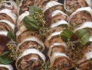 Patera mix 24szt: tortelinki z łososiem wędzonym, tortelinki z indykiem,
