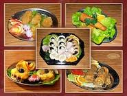 ZESTAW I mięsa+sałatki+patery 30 szt mięs /cena zawiera opakowania/