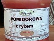 Pomidorowa z ryżem ze słodkich pomidorów na bulione z indyka
