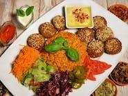 ZESTAW WEGE KIBICA: Danie falafel EXTRA + Ajran lub Lemoniada + Baklawa