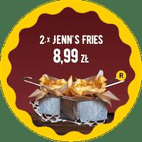 2 x średnie Oryginal Jenn's Fries  za 8,99 zł