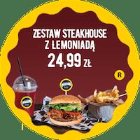Zestaw SteakHouse z Lemoniadą za 24,99 zł