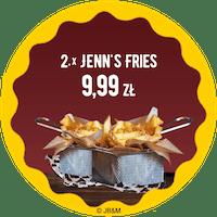 2 x średnie Oryginal Jenn's Fries  za 9,99 zł