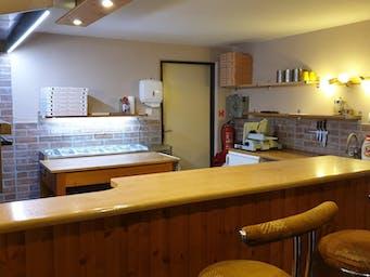 Pizzeria interiér