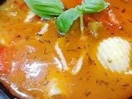 Zupa bograczowa z lanym ciastem i ziemniakami
