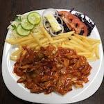 7. Kebab sweet chilli tanier