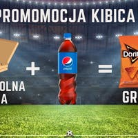 PROMOCJA KIBICA TRWA ! DWIE DOWOLNE PIZZE + PEPSI 0,85L = NACHOS DORITOS GRATIS !