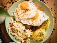Kotlet schabowy jajo + zupa