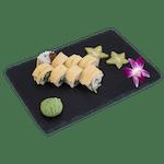 Uramaki - Pieczony łosoś owijany tamago