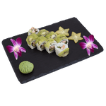 Uramaki - Pieczony łosoś owijany kiwi