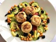 Salată cu ciuperci la grătar