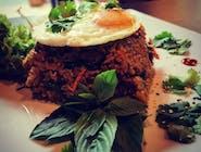 Ryż Smażony z Kimchi - Krewetki