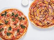 2 x dowolna pizza 40cm + 4 sosy + 2x 0.5l Napoju