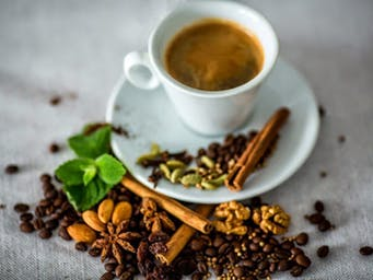 Łyk kawy w Żubrówkowej La Suevie :))