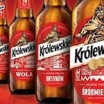 Piwo Królewskie butelka 0,5l, cena 8zł, dostępne tylko na miejscu w lokalu. Tradycyjny Warszawski Browar.