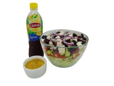 Sałatka Grecka + Lipton