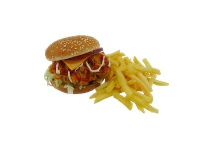 Cheese Felix Burger + Frytki