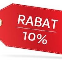 Rabat -10% na wszystkie zamówienia online od poniedziałku do czwartku