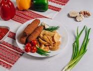Kiełbaski lwowskie z ziemniakami po kozacku