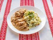 Duszenyna z ryżem i warzywami